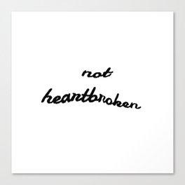 Not Heartbroken - Louis Tomlinson Inspired Canvas Print