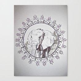 India Elephant Canvas Print
