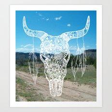 New Mexico Bull Skull Art Print