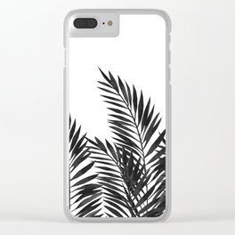 Palm Leaves Black Clear iPhone Case