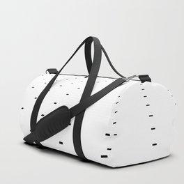 Black and White Minimal Pixels III Duffle Bag
