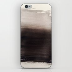 Watercolor Black Fuzzy mind iPhone & iPod Skin