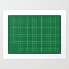 Cut here Art Print