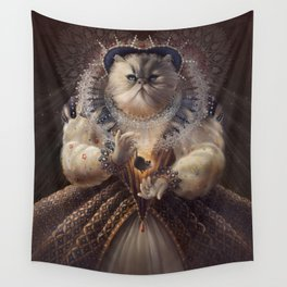Cat Queen Wall Tapestry