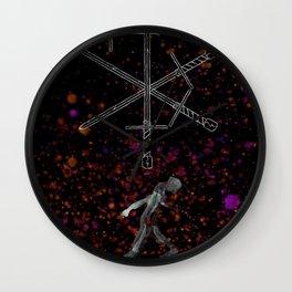A Tarot of Ink 04 of Swords Wall Clock