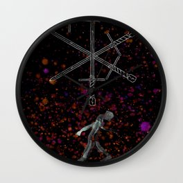 A Tarot of Ink 04 of Swords Wall Clock