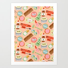 Toiletries Pattern Art Print