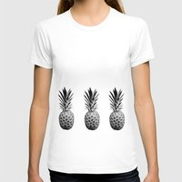 pineapples T-shirts featuring Cool Pineapples  by Yilan