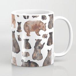 Woodland Bear Pattern Coffee Mug