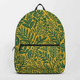 Green Botanical Damask Backpack