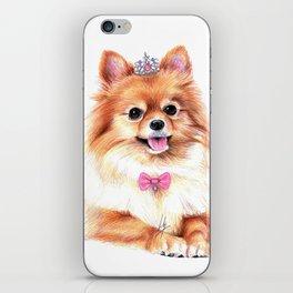 Pomeranian Princess iPhone Skin