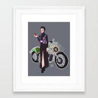 evil queen Framed Art Prints featuring Evil Queen by Dixie Leota