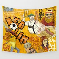berlin Wall Tapestries featuring Berlin by Lovatto
