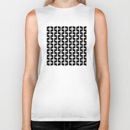 Geometric Pattern 207 (black white) Biker Tank