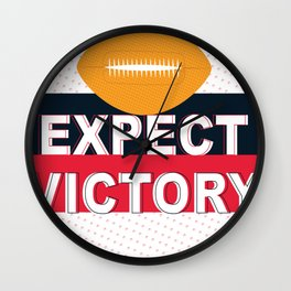 Expect Victory Wall Clock