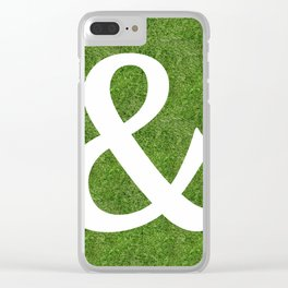 ampersand & and initial letter alphabet on the grass Clear iPhone Case