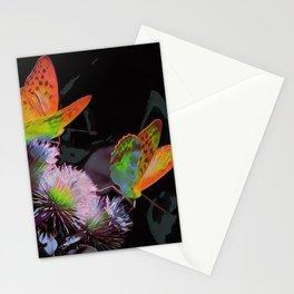 Orange Butterflies III Stationery Cards