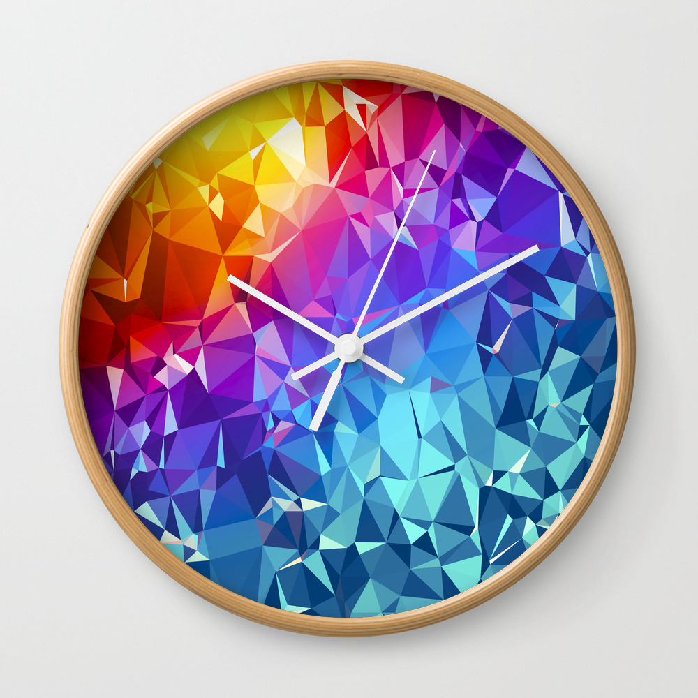 Rainbow Prism Wall Clock by Lumible CLK8370480