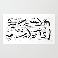 code Art Prints featuring Code by C. Gibson