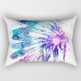 mandala colorful headdress Rectangular Pillow