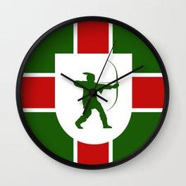 nottinghamshire region flag united kingdom great britain province Wall Clock