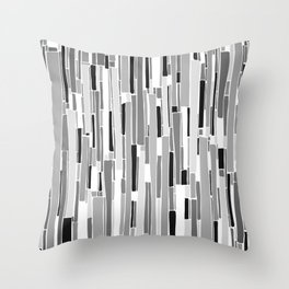 Stacked BW Throw Pillow