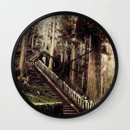 Stone Steps - Japan Nikko Wall Clock