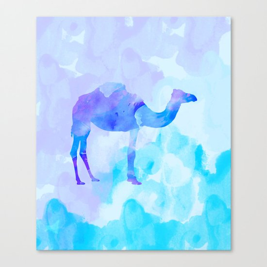 Abstract Camel Canvas Print