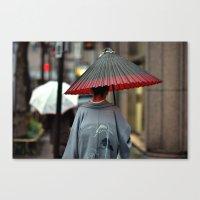 Geisha Walking Canvas Print