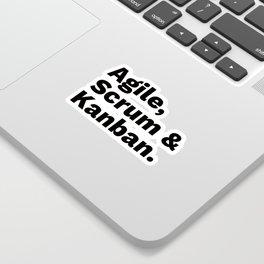 Agile, Scrum & Kanban Sticker