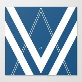 Blue V 2 #retro #society6 #abstract #artdeco #minimal #art #design #kirovair #buyart #decor #home Canvas Print