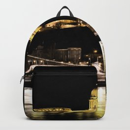 Budapest Chain Bridge And Castle Art Backpack