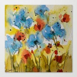 Flowers (watercolor) Canvas Print