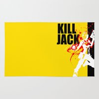 borderlands Area & Throw Rugs featuring KILL JACK - SIREN by Resistance