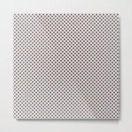 Deep Mahogany Polka Dots Metal Print