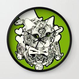Paisley Cat Wall Clock