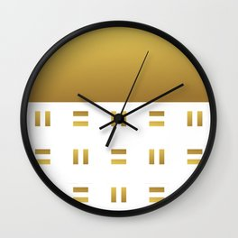 Modern geometric background gold #society6 #decor #buyart #artprint Wall Clock
