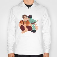 wreck it ralph Hoodies featuring Ralph & Vanellope by Violet's Corner