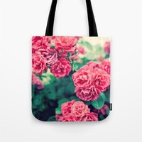 flora Tote Bags featuring Flora by Laura Ruth