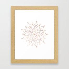 Mandala Rose Gold Pink Star Framed Art Print