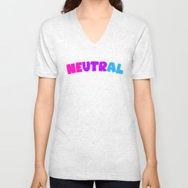 Neutral (Androgynous) Unisex V-Neck