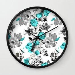 Hula Floral Wall Clock