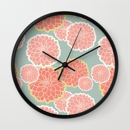 Spring Patio Collection - Fun Flowers Wall Clock