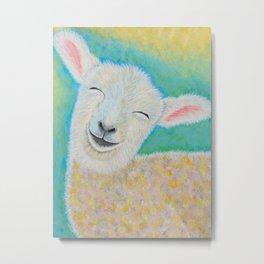 Happy Lamb Metal Print