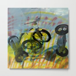 BUFFALO FACTORY  Tricycles Metal Print