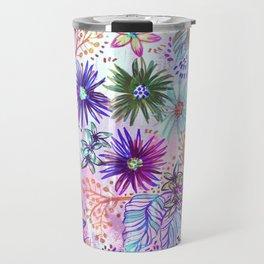 Eden Floral Multi White Travel Mug