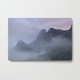 Purple sky in Norway  | nature photo | fine art photo print | travel photography Metal Print