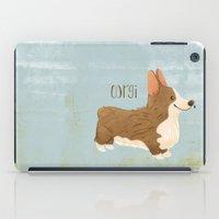 corgi iPad Cases featuring Corgi by 52 Dogs