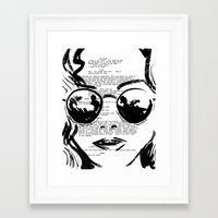 almost famous Framed Art Prints featuring Almost Famous Screenplay Portrait by Josh Abraham