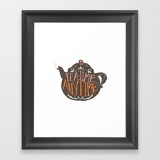 TEA TIME. ANY TIME. - color Framed Art Print